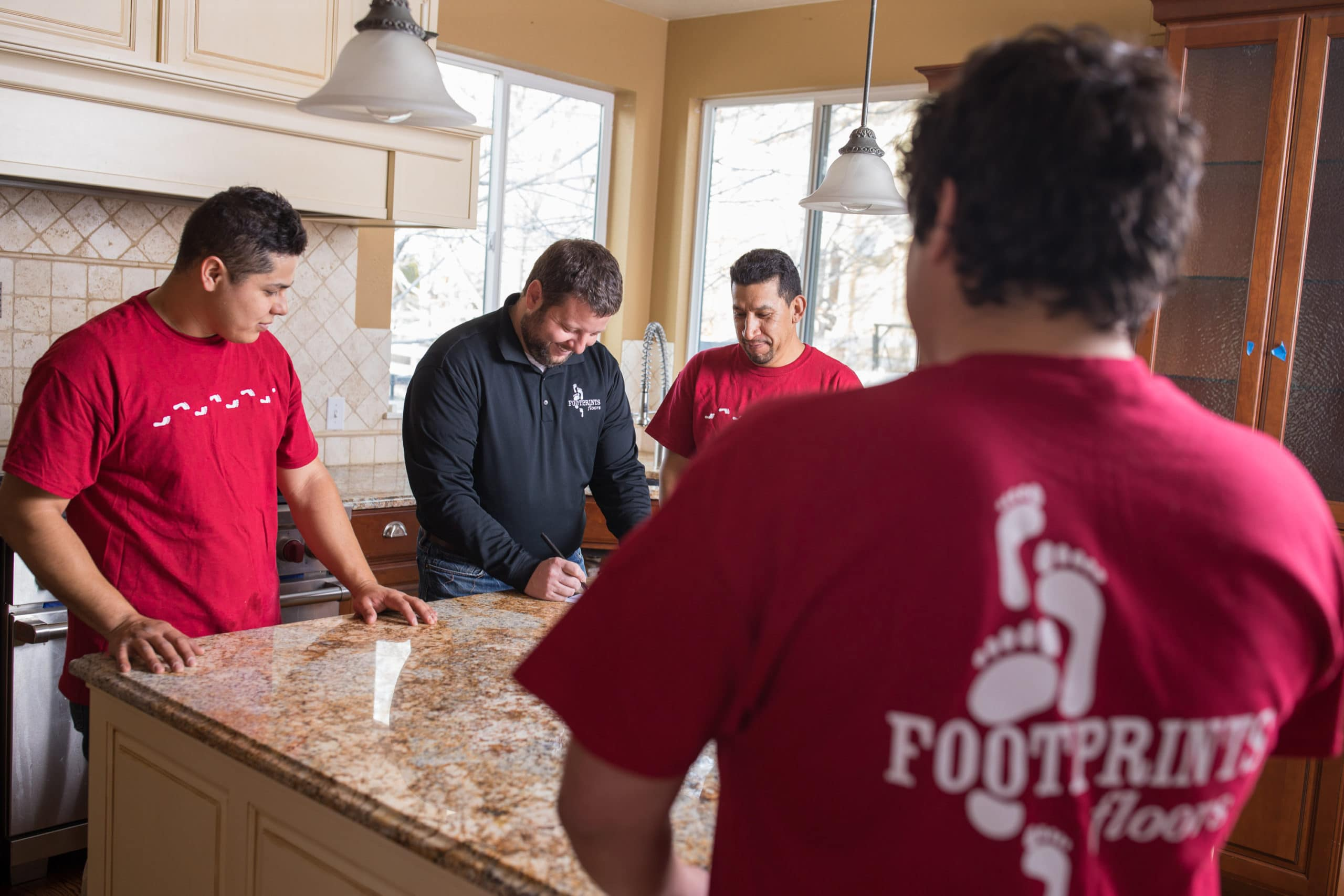 Constant support is a huge benefit of self employment with a Footprints Floors franchise.