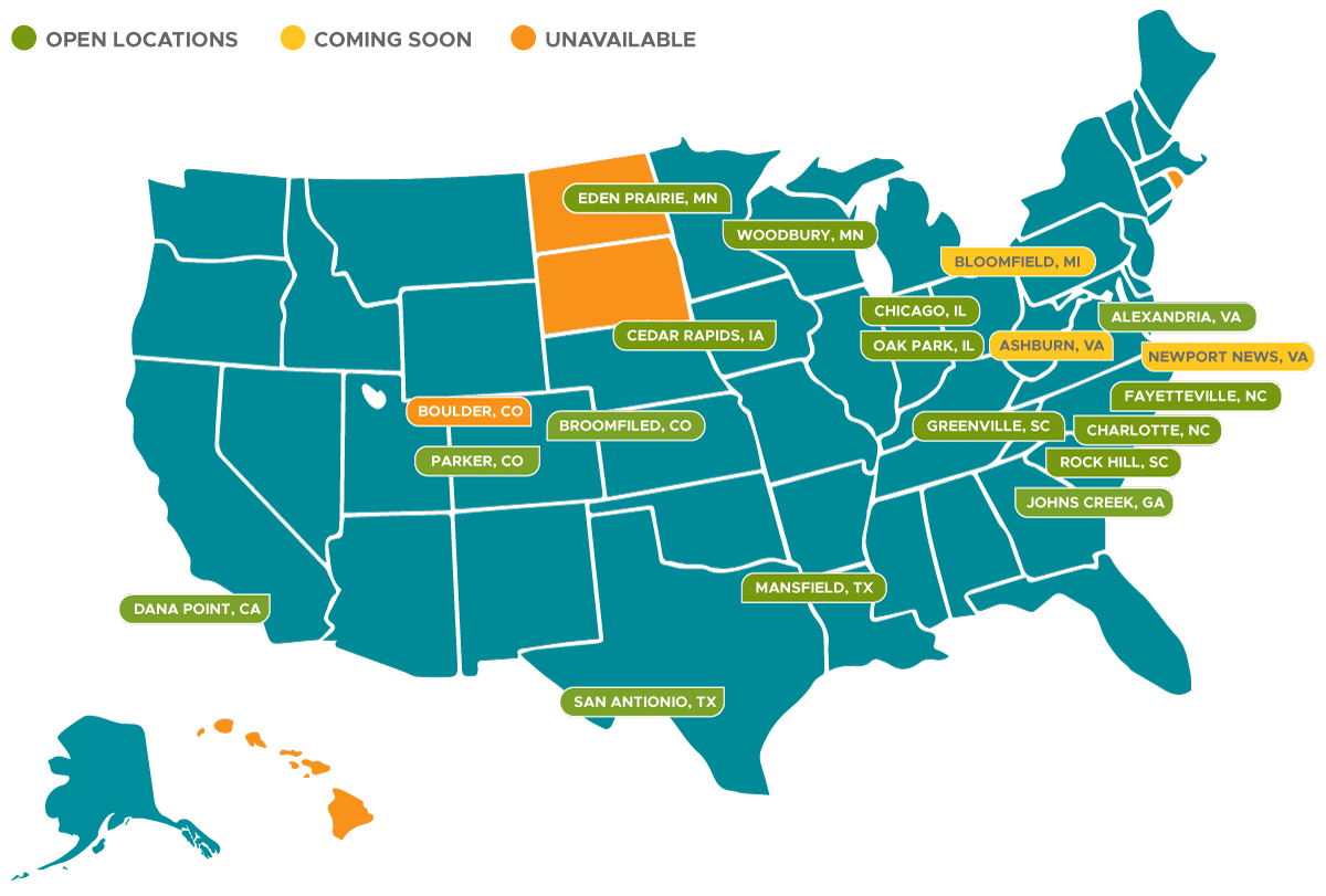 Arts and Crafts Franchise Territories